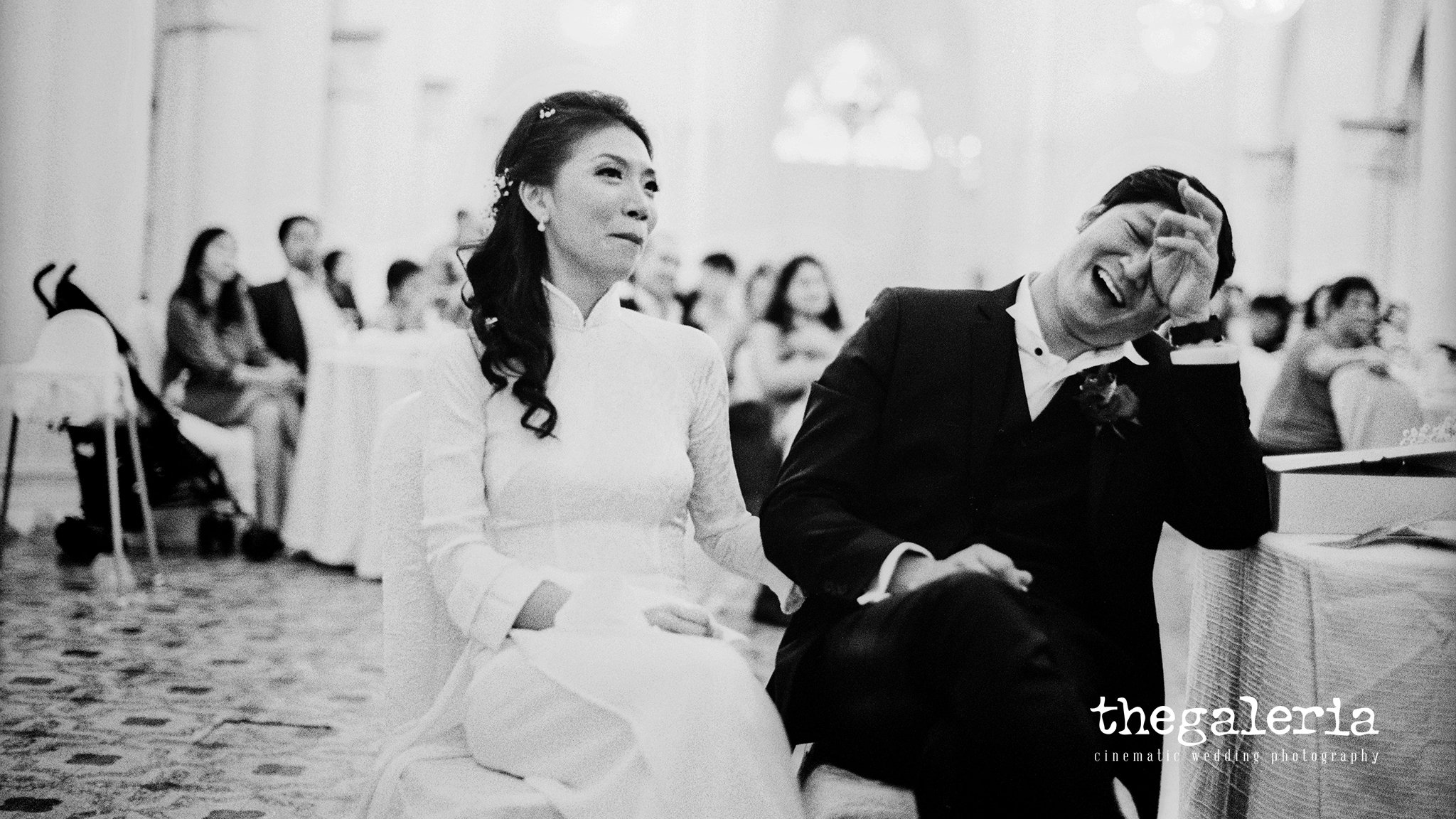 Film Wedding Photography by Brian Ho / thegaleria. Kodak TRI-X / pushed +1 stop. Chijmes